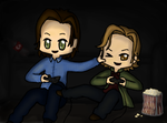 Sabriel 03 - Gaming/Watching a movie by Leilani-kitty