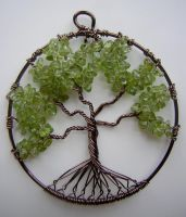 Peridot Tree of Life *SOLD* by RachaelsWireGarden