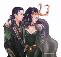 The Avengers - Loki x Lady Loki by maXKennedy