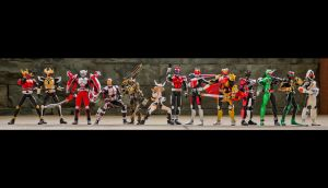 SHF Heisei Riders - Kinda Complete lol by phtoygraphy