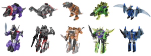 G1 AoE Dinobots Digibash by Air-Hammer