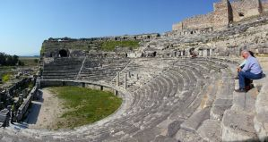 inside the theater of Miletus by Sockrattes