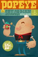 Popeye the Sailor Man by MattKaufenberg