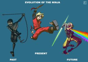 Evolution Of The Ninja by MechaBuggy
