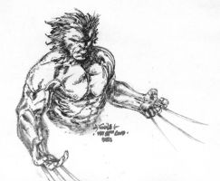 Wolverine lunch sketch by SpiderGuile