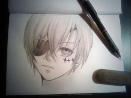 Ciel Phantomhive (Pencil Drawing) by XxHakumixX