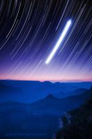 Grand Canyon Star Trails by mysteriumtremendum