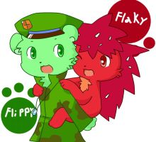 Flippy X Flaky again :3 by PuppyLuv-1994