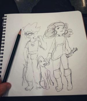A drawing in a waiting room by doomiest