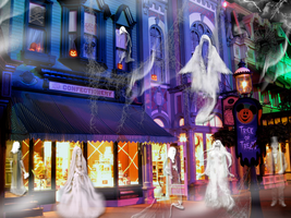 Ghostly Shopping on Main St WDW by WDWParksGal-Stock