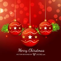 Merry Christmas Balls Free Vector by vecree