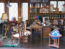 English Country House Library by duskofinnocence