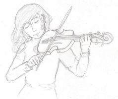 The Violin by DreamingLights