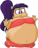 Shantae inflated by JuacoProductionsArts