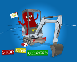Stop The Occupation:artstuck by No-More-Ignorance