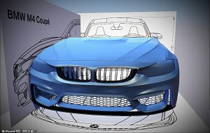 BMW M4 Coupe ,pic 4 by Artsoni3D