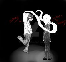 Jeff and Slender man by DRAGOXWOLF