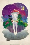 Mushroom under the Moon by kir-tat