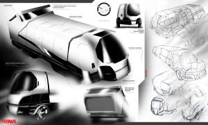 Garbage Truck Concept by Alpha-Step