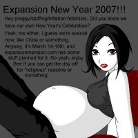 Preggy Fetishist New Years by Kazuv