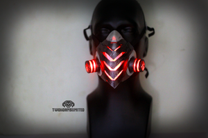 The Biolancer Cyberpunk LED Respirator by TwoHornsUnited