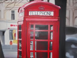 Telephone Box by gold-blonde