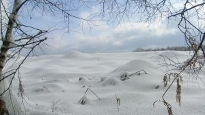 landscape with snow 2 by ingeline-art