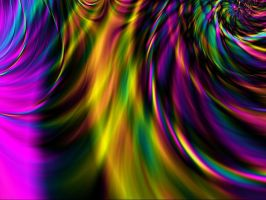 Feathery Rainbow Fractal Stock by MysticrainbowStock