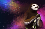 160113 Space Money Sloth by PataYoh