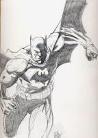HUSH Batman sketch by Hesstoons