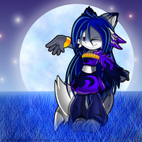Blue Nightsky_Miriam the Wolf by Chibi-Nuffie