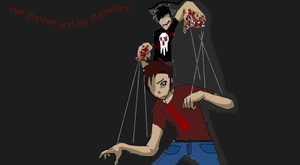 Timeas the puppet and Jespire the puppeter by Unseen1026