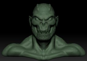 Killer Croc Bust Front by EvilHayato