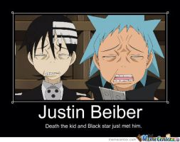 Death the kid and Black Star meet justin.b :| by ilovemajinbuu