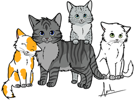 EaglexSpark kittens by Animalible
