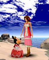 Aerith and Queen Minnie Mouse by IntenseObservation