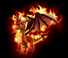Really fire dragon by Hackashi