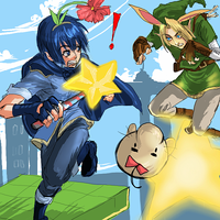 SSBB: Marth vs. Link by silvair