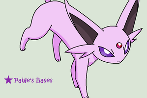 Espeon About To Pounce Base by Paige-the-unicorn