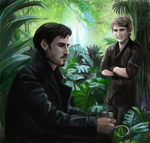 Peter Pan and Captain Hook - Once Upon A Time by DreamyArtistRoxy3