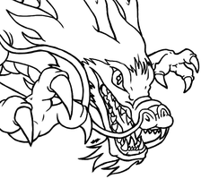 Eastern Dragon Lineart by EchoHawk