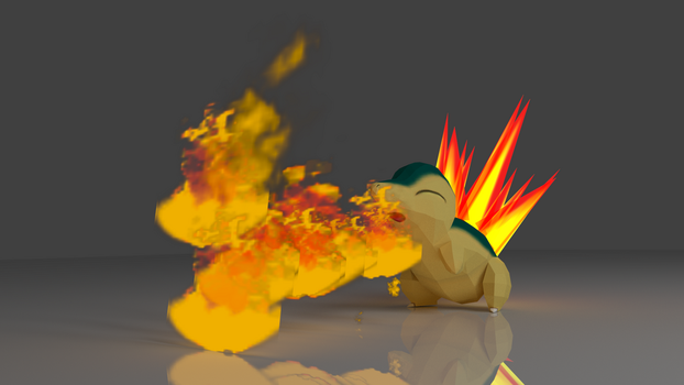 Cyndaquil by lolcat32