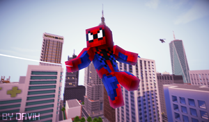 Minecraft - Spiderman by iDavix