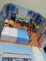 Andy's (Toy Story 3) room papercraft diorama by bslirabsl