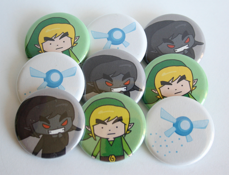 Legend of Zelda Button Set by ThePockyGirl