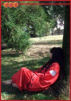 Human Inuyasha - resting by MiayahMilles
