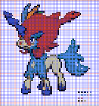 Pokemon Cross Stitch Keldeo Resolute Form Pattern by Quina-chan