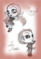 new chibi lou and maggot by selene-nightmare69