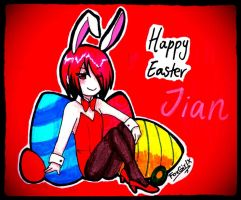 HAPPY EASTER! (with Jian) by MasterB0nesX