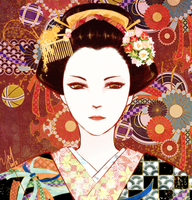 Geisha Doodle by pianopear12